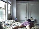 Caught Mature Mom on Hidden Camera Masturbating in Bed