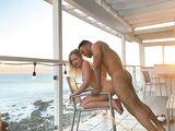 Interracial sunset bang mixed couple fantastic pounding on the porch
